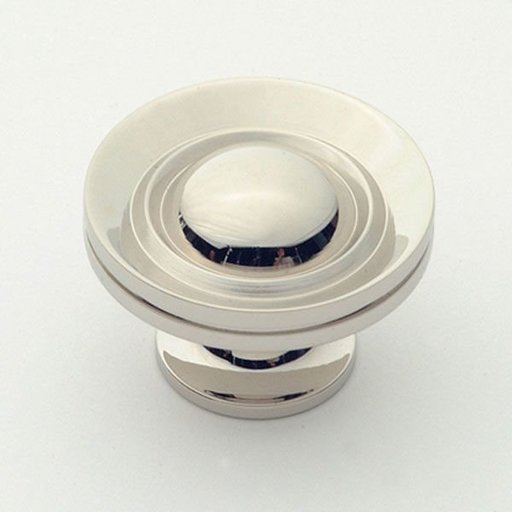 """View a Larger Image of Knob, Polished Nickel, 1-1/2"""" Diameter, 1056PN"""