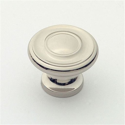 """View a Larger Image of Knob, Polished Nickel, 1-1/4"""" Diameter, 1049PN"""
