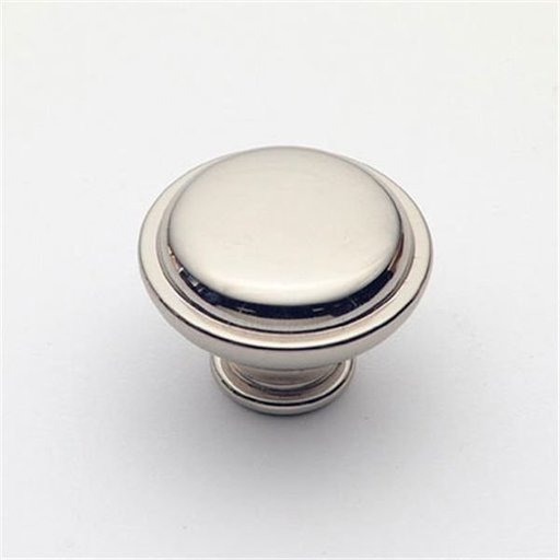 """View a Larger Image of Knob, Polished Nickel, 1-1/4"""" Diameter, 1145PN"""