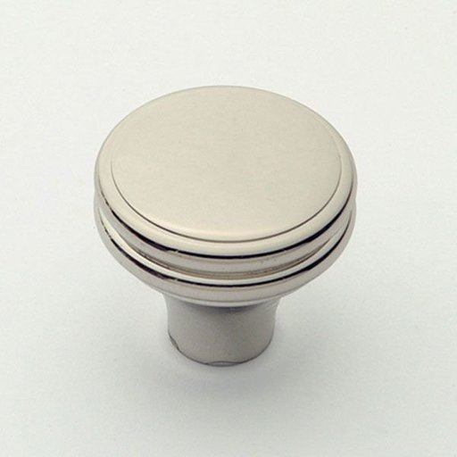 """View a Larger Image of Knob, Polished Nickel, 1-1/4"""" Diameter, 1154PN"""