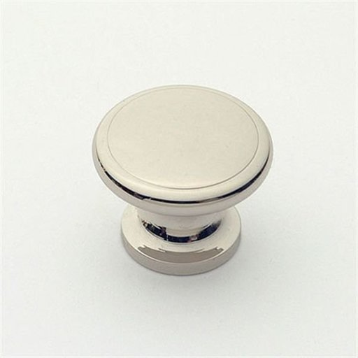 """View a Larger Image of Knob, Polished Nickel, 1-1/8"""" Diameter, 1003PN"""