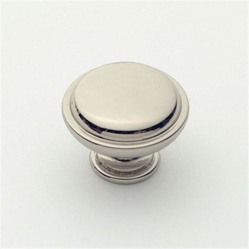 """View a Larger Image of Knob, Polished Nickel, 1-1/8"""" Diameter, 1057PN"""