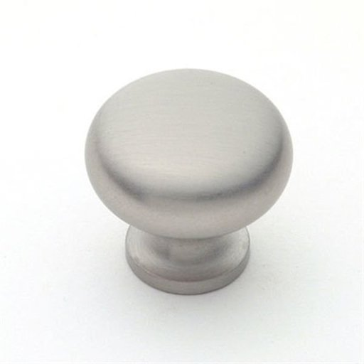 "View a Larger Image of Knob, Satin Nickel, 1-1/4"" Diameter, 1134SN"