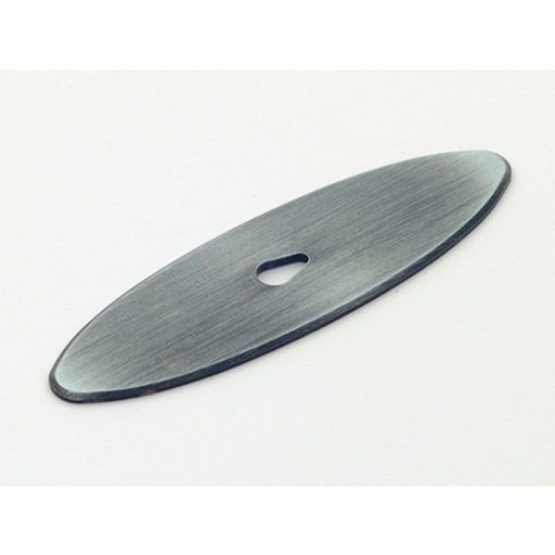 View a Larger Image of Oval Backplate, Antique Pewter, 1197AP