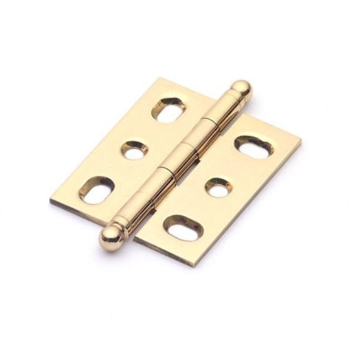 View a Larger Image of Polished Brass Mortise Hinge, 2571PB