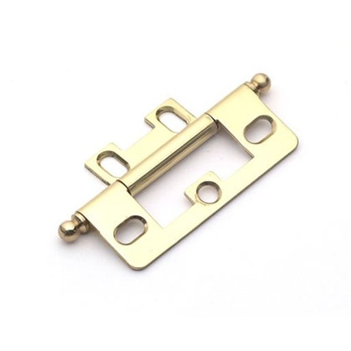 View a Larger Image of Polished Brass Non-mortise Hinge, 2511PB