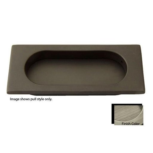 View a Larger Image of Rectangular Flush Pull, Antique Pewter, 9710AP