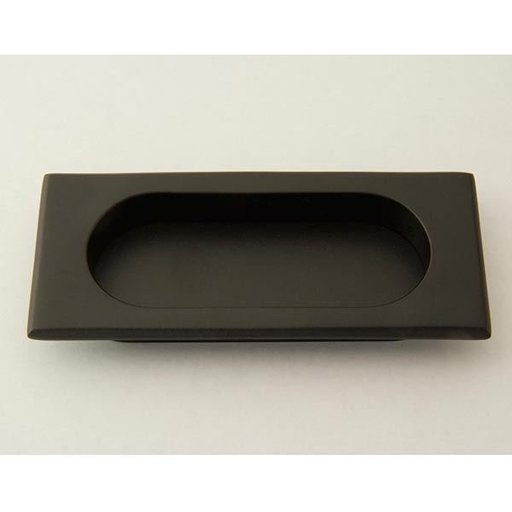 View a Larger Image of Rectangular Flush Pull, Matte Black, 9710MB