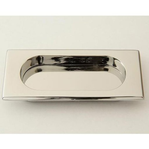 View a Larger Image of Rectangular Flush Pull, Polished Chrome, 9710PC