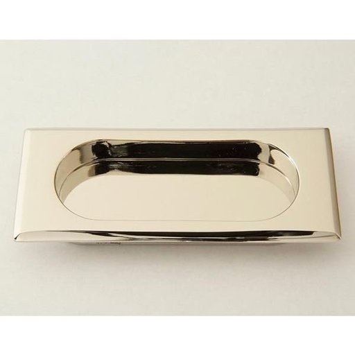 View a Larger Image of Rectangular Flush Pull, Polished Nickel, 9710PN