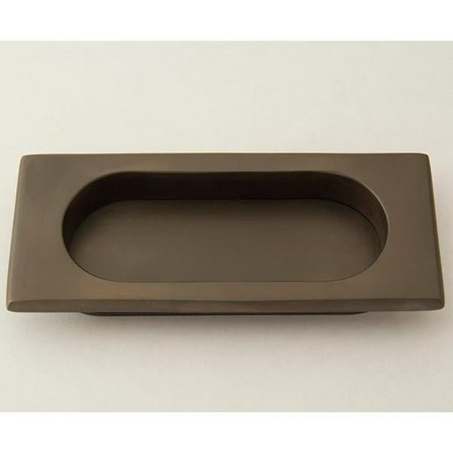 View a Larger Image of Rectangular Flush Pull, Weathered Bronze, 9710WZ