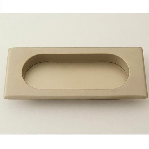 View a Larger Image of Rectangular Flush Pull, Weathered Nickel, 9710WN