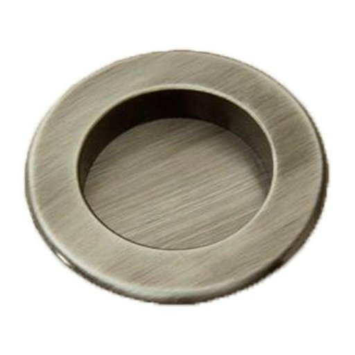 View a Larger Image of Round Flush Pull, Antique Pewter, 9715AP