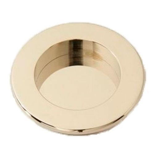 View a Larger Image of Round Flush Pull, Polished Nickel, 9715PN