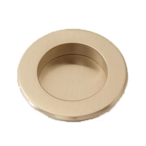 View a Larger Image of Round Flush Pull, Satin Nickel, 9715SN