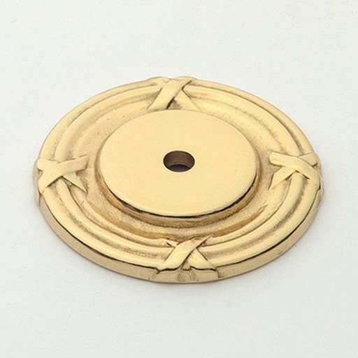 View a Larger Image of St. Georges Backplate, Polished Brass, 1407PB