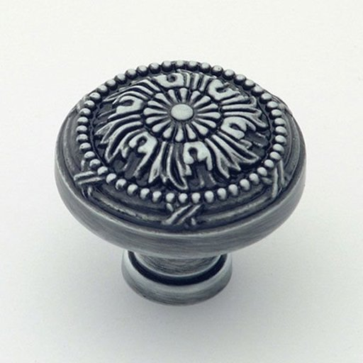 """View a Larger Image of St. Georges Knob, Antique Pewter, 1-1/2"""" Diameter, 1402AP"""