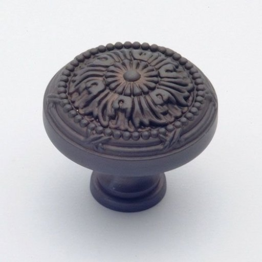 """View a Larger Image of St. Georges Knob, Oil Rubbed Bronze, 1-1/2"""" Diameter, 1402BZ"""