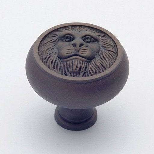 """View a Larger Image of St. Georges Knob, Oil Rubbed Bronze, 1-1/2"""" Diameter, 1452BZ"""