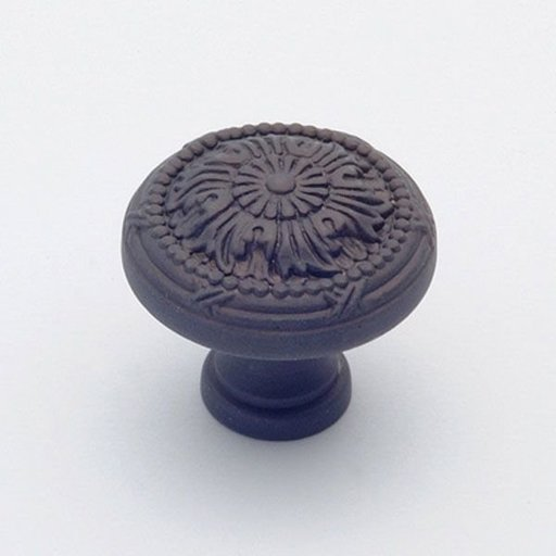 """View a Larger Image of St. Georges Knob, Oil Rubbed Bronze, 1-1/4"""" Diameter, 1401BZ"""
