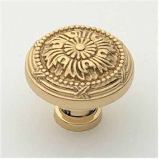 """View a Larger Image of St. Georges Knob, Polished Brass, 1-1/2"""" Diameter, 1402PB"""