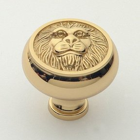 "St. Georges Knob, Polished Brass, 1-1/2"" Diameter, 1452PB"