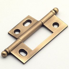 Weathered Brass Non-mortise Hinge, 2581WB