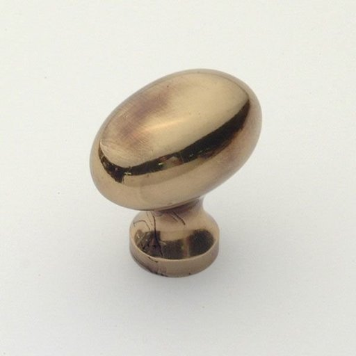 View a Larger Image of Classic Oval Knob, Polished Antique, 31 mm Diameter, 1196PA