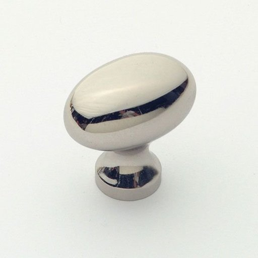 View a Larger Image of Classic Oval Knob, Polished Nickel, 31 mm Diameter, 1196PN