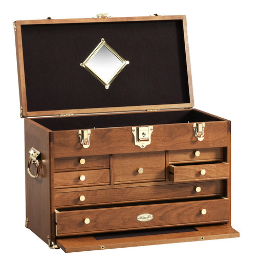 View a Larger Image of Classic Tool Chest in American Cherry