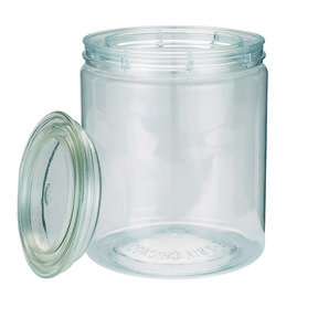 Clear Plastic Can 1qt