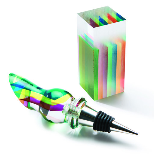 """View a Larger Image of Clear Prism Acrylic Bottle Stopper Blank 1.5"""" x 1.5"""" x 3"""""""