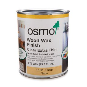 Clear Wood Wax Extra Thin 1101 Solvent Based .75 l
