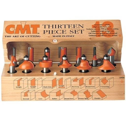 View a Larger Image of 13 Piece Router Bit Set, Model 800.505.11