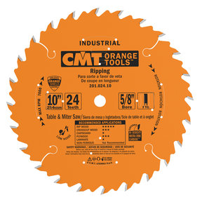 "201.024.10 Circular Saw Blade 10"" x 5/8"" Bore x 24 Tooth FTG"