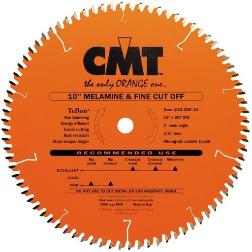 "View a Larger Image of 210.080.10 Circular Saw Blade 10"" x 5/8"" Bore x 80 Tooth ATB"