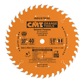 "213.040.10 Circular Saw Blade 10"" x 5/8"" Bore x 40 Tooth ATB"