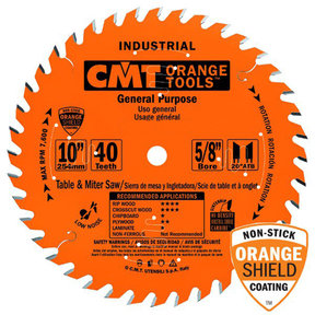 "214.040.10 Circular Saw Blade 10"" x 5/8"" Bore x 40 Tooth ATB"