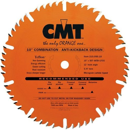 "View a Larger Image of 215.050.10 Circular Saw Blade 10"" x 5/8"" Bore x 50 Tooth Combination"