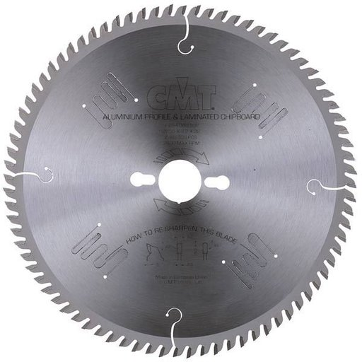 "View a Larger Image of 225.080.10 Circular Saw Blade 10"" x 5/8"" Bore x 80 Tooth TCG"