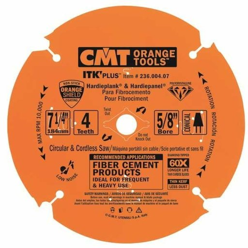 "View a Larger Image of 236.004.07 Miter Saw/Circular Saw Blade, 7-1/4"" x 4T x 5/8"" bore"