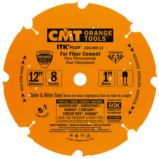 "View a Larger Image of 236.008.12 Miter Saw/Circular Saw Blade, 12"" x 8T x 1"" bore"