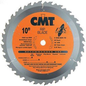 "250.024.08 Circular Saw Blade 8-1/4"" x 5/8"" Bore x 24 Tooth ATB"