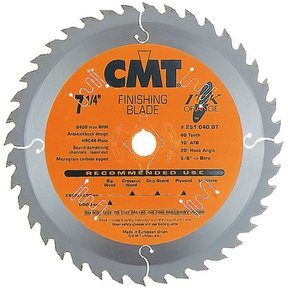 "251.040.07 Circular Saw Blade 7-1/4"" x 5/8"" Bore x 40 Tooth ATB"