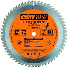 "253.072.12 ITK Finish Compound Miter Saw Blade, 12"", 72 Teeth"