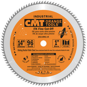 253.096.14 ITK Finish Compound Miter Saw Blade 96 Tooth