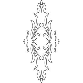 3D Router Carver Classical Cabinet Door Template, Model RCS-302