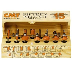 "800.001.00 15-Piece Router Bit Set - 1/4""SH"