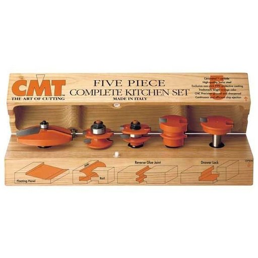 "View a Larger Image of 800.509.11 5-Piece Kitchen Router Bit Set A 1/2""SH"