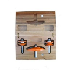 "800.514.11 3 Piece Kitchen Router Bit Set C Bevel/Bead Profile 1/2"" Shank"